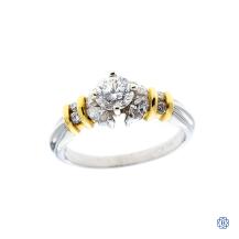 Platinum 0.56ct Solitaire Diamond Engagement Ring
