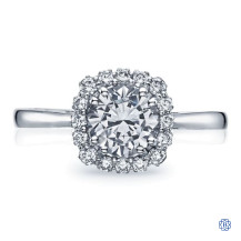 18kt White Gold 0.50ct Diamond Full Bloom Engagement Ring