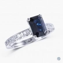 Tacori Clean Crescent platinum sapphire engagement ring