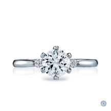 Tacori 18kt 0.70ct Diamond Sculpted Crescent Engagement Ring