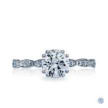 Tacori 18kt White Gold 0.53ct Diamond Sculpted Crescent Engagement Ring