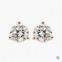 14k white gold 0.82ct diamond stud earrings