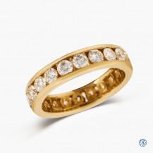 14k yellow gold 2.00ct diamond full eternity band