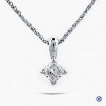 14kt white gold 0.56ct Maple Leaf Diamond Necklace