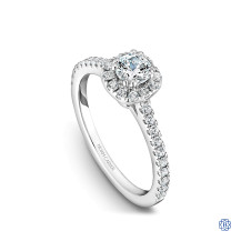 14kt White Gold Halo Engagement Ring