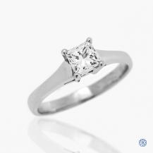 platinum 0.64ct diamond, solitaire engagement ring