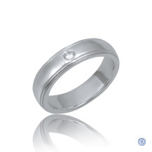 14kt White Gold 0.08ct Diamonds Wedding Band