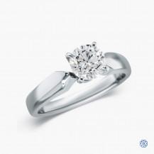 18k white gold 0.83ct diamond engagement ring