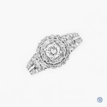 14k white gold 0.41ct diamond cluster ring