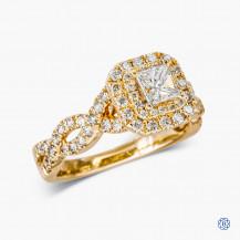 Vera Wang 14k Yellow Gold 0.38ct Diamond and Sapphire Engagement Ring