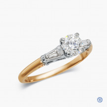 14kt Yellow Gold 0.51ct Round Diamond Engagement Ring