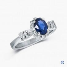 18kt White Gold Sapphire Ring