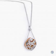 Tacori 18kt White and Rose Gold Diamond Necklace