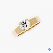 14k yellow gold 0.90ct diamond solitaire engagement ring