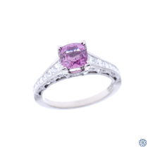 Tacori Reverse Crescent Pink Sapphire Engagement Ring
