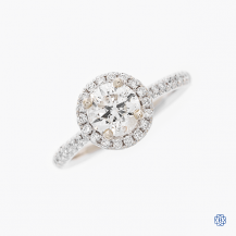 14k white gold 1.00ct diamond engagement ring