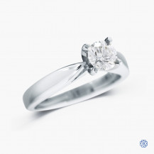 19k white gold 0.48ct diamond solitaire engagement ring