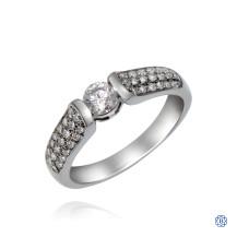 18kt White Gold 0.33ct Round Diamond Engagement Ring