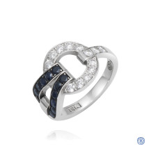 18kt White Gold 0.45ct Graphic Diamond Cluster Ring