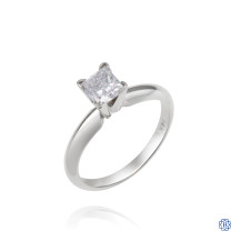 14kt White Gold 0.70ct Solitaire Princess Diamond Engagement Ring