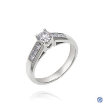 18kt White Gold 0.37ct Round Diamond Engagement Ring