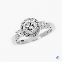 Tacori 18kt White Gold Dantela 1.00ct Diamond Engagement Ring