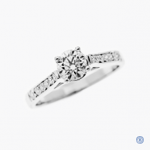 18kt White Gold 0.52ct Maple Leaf Diamond Engagement Ring