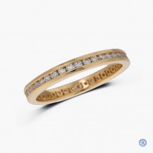 14k yellow gold 0.50ct diamond full eternity band