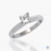 18k white gold 0.50ct diamond solitaire engagement ring