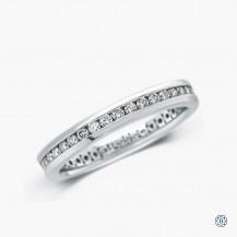14k white gold 0.50ct diamond full eternity band