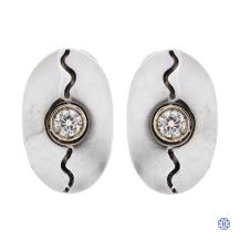 14kt White Gold 0.30ct Diamond Earrings