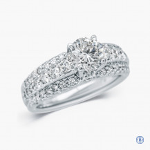 Scott Kay 19kt White Gold Solitaire Engagement Ring with 1.09ct Round Diamond