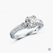 18k white gold1.17ct diamond engagement ring