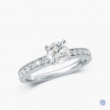 18kt white gold 1.02ct Maple Leaf Diamond Engagement Ring