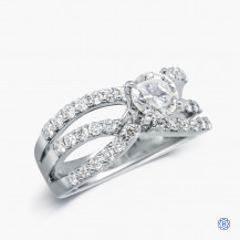 18kt white gold 0.68ct diamond engagement ring