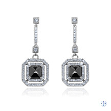 Custom Black Diamond Earrings