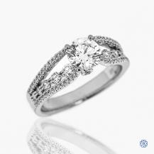 18k white gold Lazare Kaplan 0.90ct diamond engagement ring