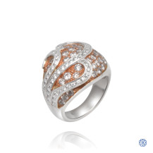 14kt White Gold Pink Diamond Right Hand Ring