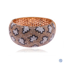 18kt Rose Gold Fancy Brown Diamond Bangle