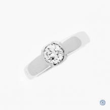 14k white gold 0.51ct diamond solitaire engagement ring