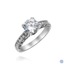 18kt White Gold Tacori Mossannite Engagement Ring
