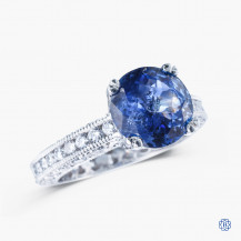 Tacori Platinum Clean Crescent 2.52ct Sapphire Diamond Engagement Ring
