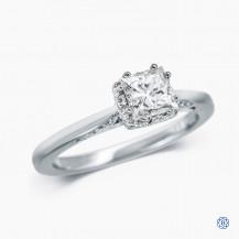Tacori 18kt white gold and 0.70ct diamond engagement ring