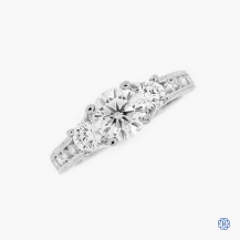 Tacori 18kt White Gold Reverse Crescent 0.94ct Moissanite Engagement Ring
