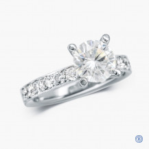 Tacori Clean Crescent 18kt white gold moissanite and diamond engagement ring