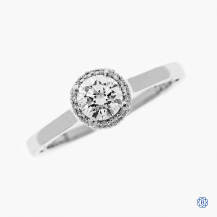 Tacori Sculpted Crescent platinum and 0.51ct Maple Leaf Diamond engagement ring