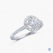 18k white gold Lazare Kaplan 0.91ct diamond engagement ring