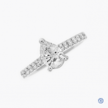14k white gold 0.81ct diamond engagement ring