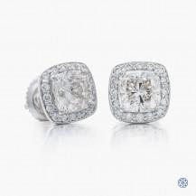 18kt white gold Maple Leaf Diamonds earrings