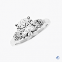 Scott Kay 19k white gold moissanite and diamond ring